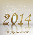 New 2014 year greeting card vector image vector image