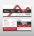 Red Brochure Leaflet Flyer annual report template vector image vector image