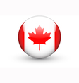 Round icon with national flag of Canada