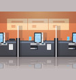 row self service machines payment terminal windows vector image vector image