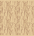 rustic wood branches seamless pattern hand drawn vector image