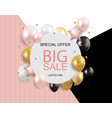sale banner with floating balloons vector image vector image
