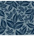 seamless floral pattern with leafs vector image vector image