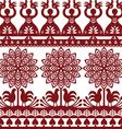 Seamless Polish folk art pattern Wycinanki vector image vector image