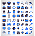 set 56 simple universal icons vector image