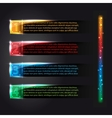 Set of colorful infographics glowing options vector image