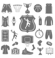 Set of icons basketball vector image vector image