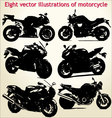 silhouettes motorcycle vector image