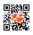 smartphone readable qr code happy valentines day vector image