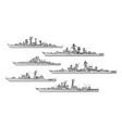 soviet frigates vector image vector image
