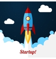 Space rocket launch Concept for startups vector image vector image