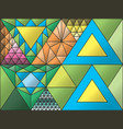 stained glass window triangulation random vector image vector image