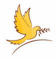 symbol flying bird vector image