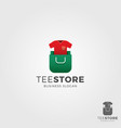 tee store logo template vector image