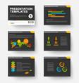 template for presentation slides 1 vector image vector image