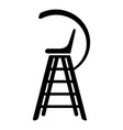tennis referee chair icon simple black style vector image vector image