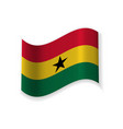 the flag of ghana vector image