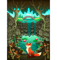 The fox near a pond vector image vector image