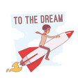 to the dream motivation lineart concept vector image