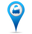 train location icon vector image vector image