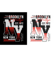 typography design ny brooklyn usa style vector image