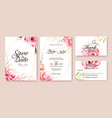 wedding invitation save date rsvp card vector image