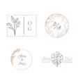 wedding monogram collection modern vector image vector image