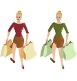 Woman going shopping vector image
