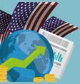 world economy infograph usa vector image