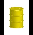 yellow metal barrel vector image