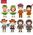 Children of the world USA Hawaiian Native American vector image
