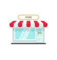 store or shop facade flat vector image