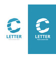 unique letter c logo design template vector image