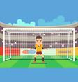 soccer goalkeeper keeping goal vector image