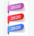 2020 new year labels vector image