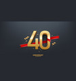 40th year anniversary background vector image