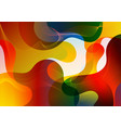 abstract vibrant color gradient liquid shapes vector image