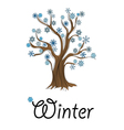Abstract winter tree with snowflakes vector image
