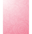 background with many pink roses vector image vector image