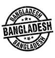 bangladesh black round grunge stamp vector image vector image
