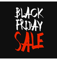 Black Friday Sale Typography Black Background vector image vector image