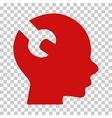 Brain Wrench Tool Icon vector image