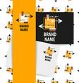 brand name arrow vector image vector image