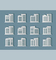 building paper cut collection on background vector image