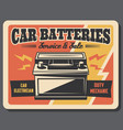 car battery charging auto repair service vector image