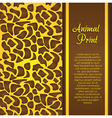 Cheetah print vector image