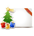 christmas signboard with tree and gifts vector image