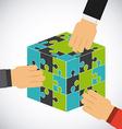 collaborative teamwork design vector image