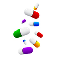 colored pills vector image vector image