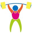 Colored sport icon for weightlifting vector image vector image